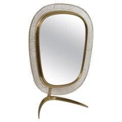 Brass Vanity Mirror, Germany, 1950