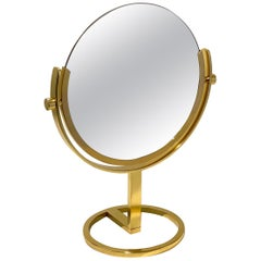 Brass Vanity Table Mirror by Charles Hollis Jones