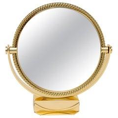 Piaget Brass Vanity Table Mirror