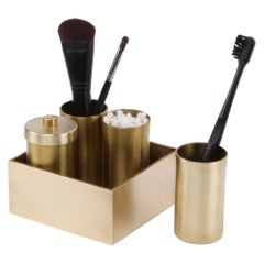 Brass Vanity Vessels with Brass Box