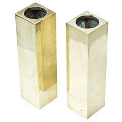 Brass Vases, Sweden, Set of 2