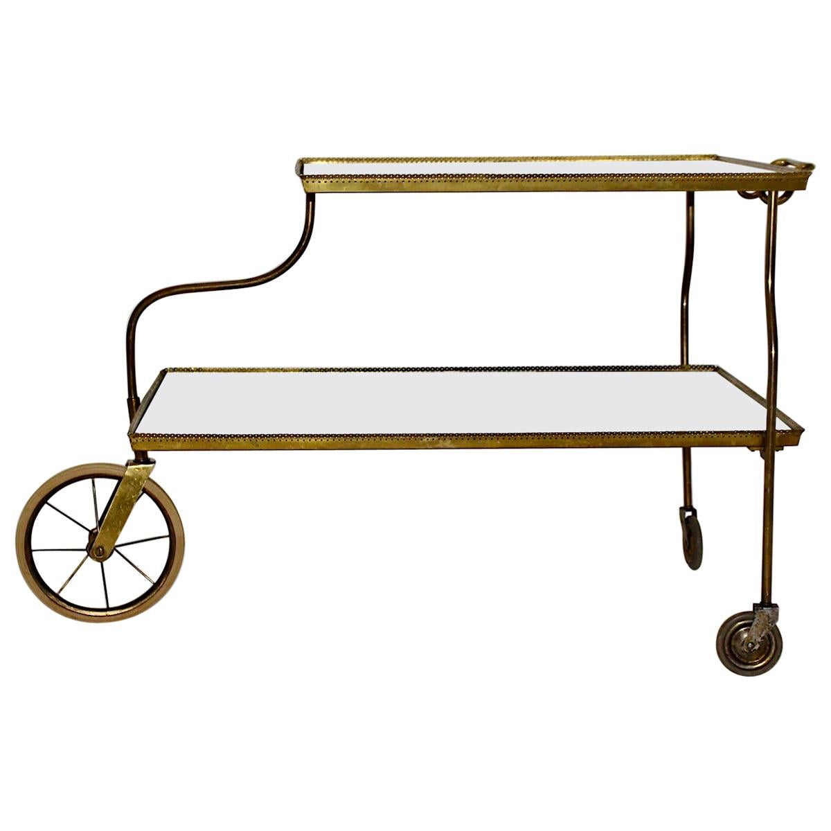 Brass Vintage Bar Cart by Josef Frank for Svenskt Tenn, circa 1938, Sweden