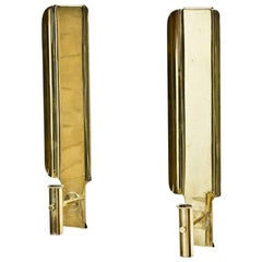 Brass Wall Candleholders by Hans-Agne Jakobsson