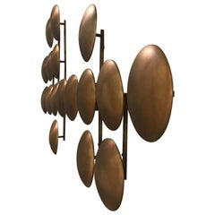 Brass Wall Clips Sculptural Wall Lighting