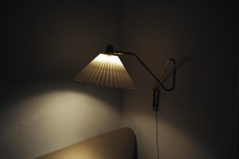 Brass Wall Lamp by Norwegian Astra in the 1950s For Sale 8