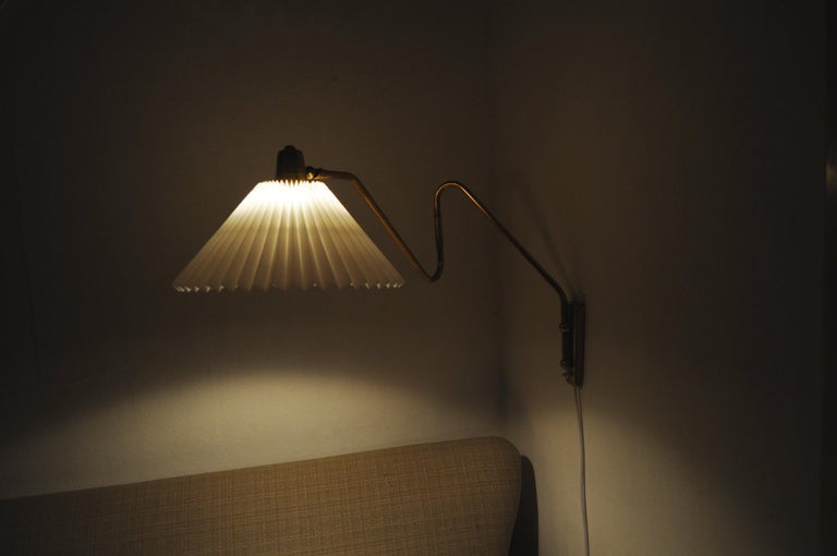 Brass Wall Lamp by Norwegian Astra in the 1950s For Sale 9