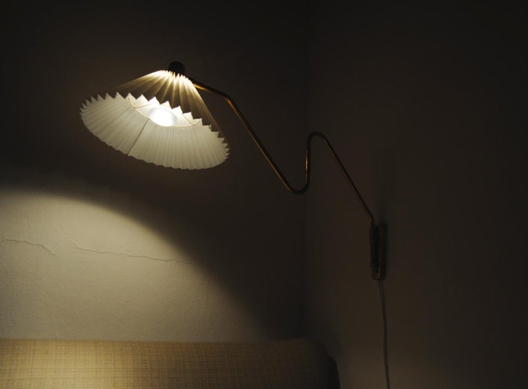 Brass Wall Lamp by Norwegian Astra in the 1950s For Sale 10