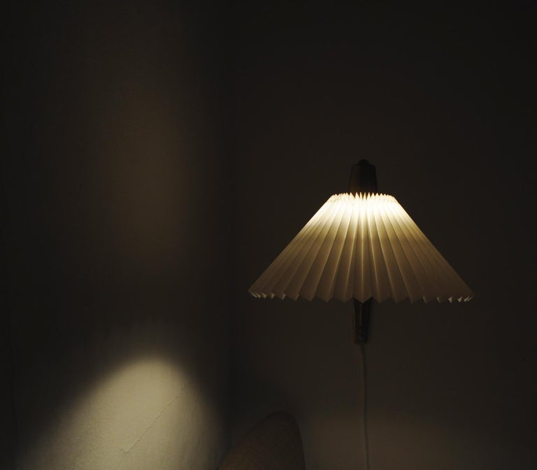 Brass Wall Lamp by Norwegian Astra in the 1950s For Sale 11