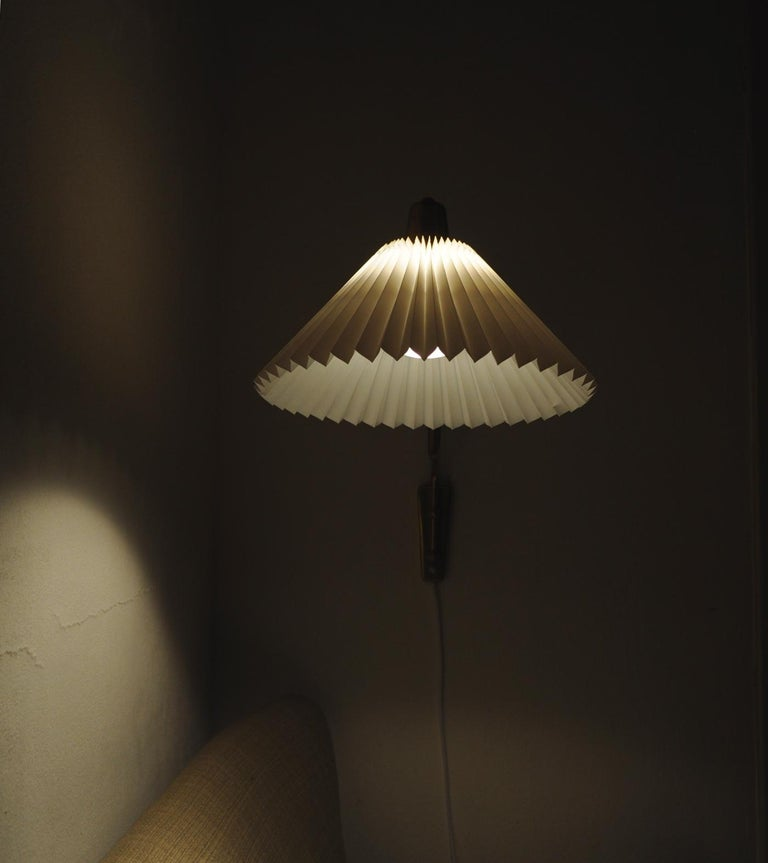Brass Wall Lamp by Norwegian Astra in the 1950s For Sale 12