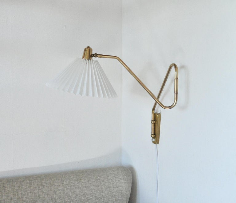 Brass Wall Lamp by Norwegian Astra in the 1950s For Sale 1