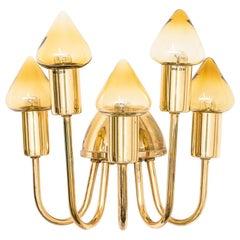 Brass Wall Lamp Model V-354/5 by Hans-Agne Jakobsson, Sweden