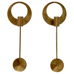 Brass Wall-Mounted Candleholders by Artur Pe Kolbäck, Sweden, 1950s