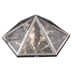 Brass Wall or Ceiling Lamp by Josef Hoffmann Jugendstil Design, Re-Edition