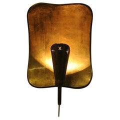 Brass Wall sconce by Lars Holmström for Arvika 1950s Sweden