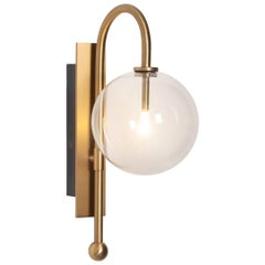 Brass Wall Sconce by Schwung