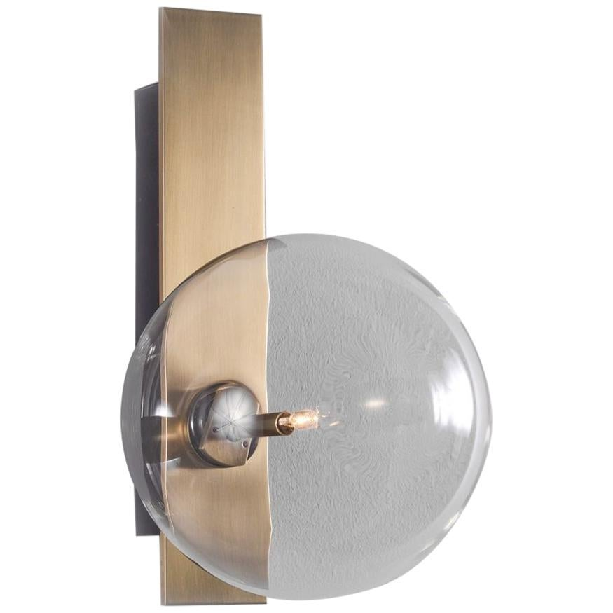 Brass Wall Sconce by Schwung