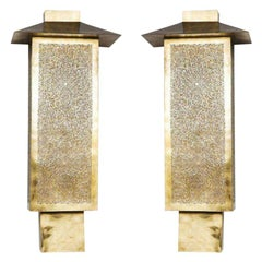 Brass Wall Sconces or Lanterns, a Pair