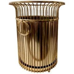 Brass Waste Can