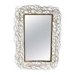 Brass Wire Mirror