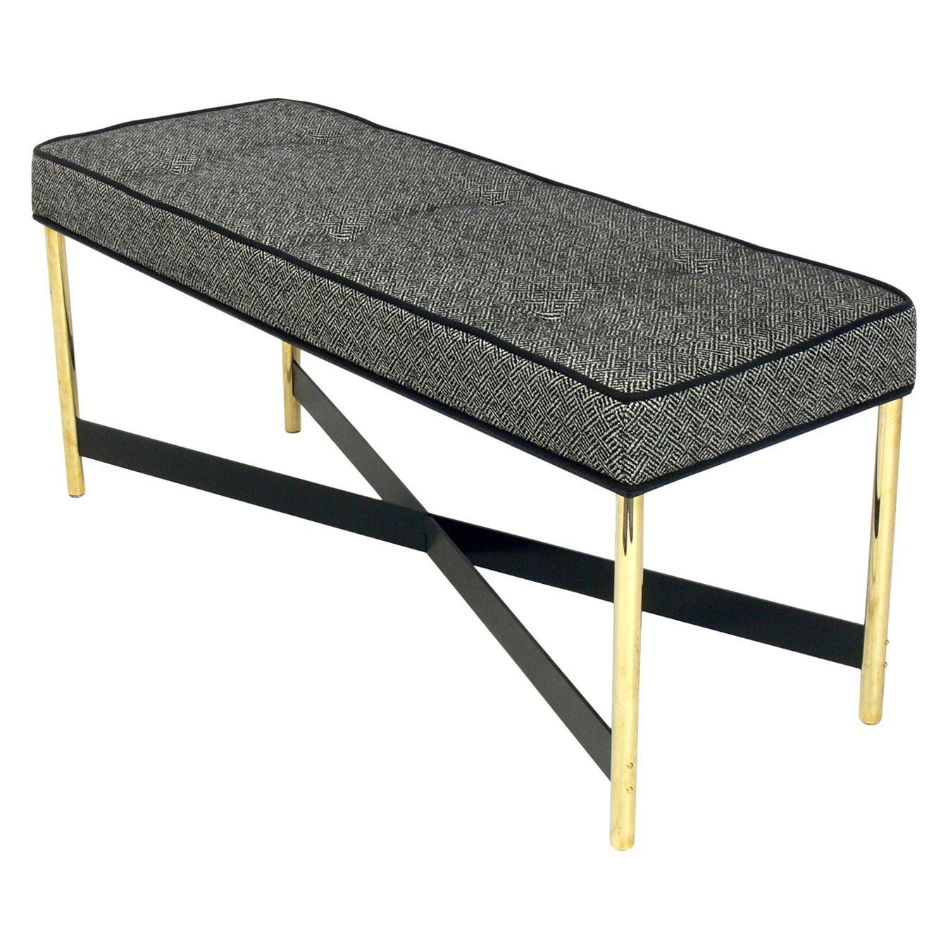 Brass X Base Bench by Laverne International