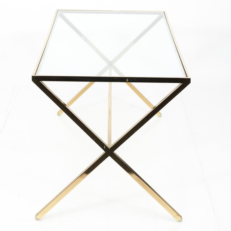 Brass X-Base Table For Sale 1