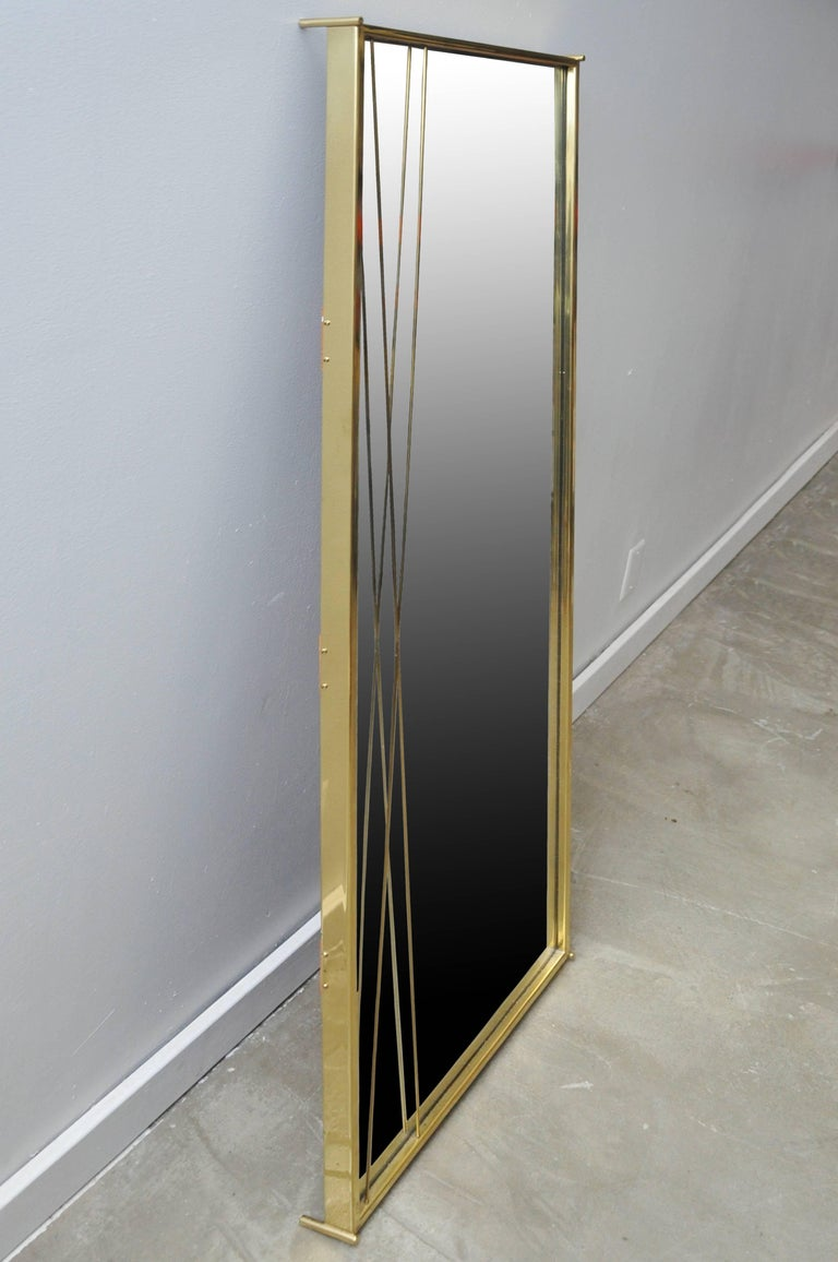 Brass 'X' Mirror by Paul McCobb for Bryce Originals, 1956 In Excellent Condition For Sale In Chicago, IL