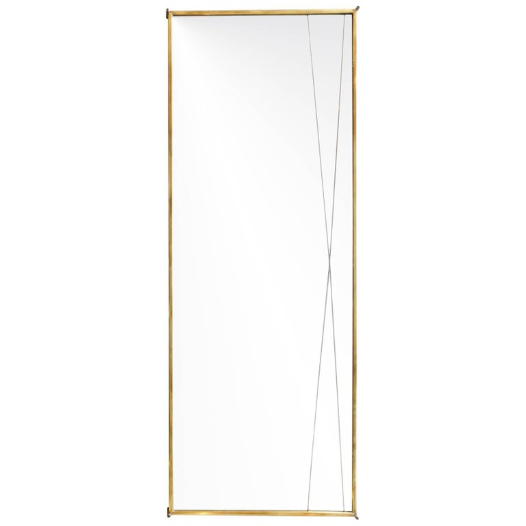 Brass 'X' Mirror by Paul McCobb for Bryce Originals, 1956 For Sale