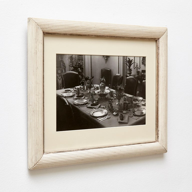 Mid-Century Modern Brassai Black and White Photography of an Interior, circa 1936 For Sale
