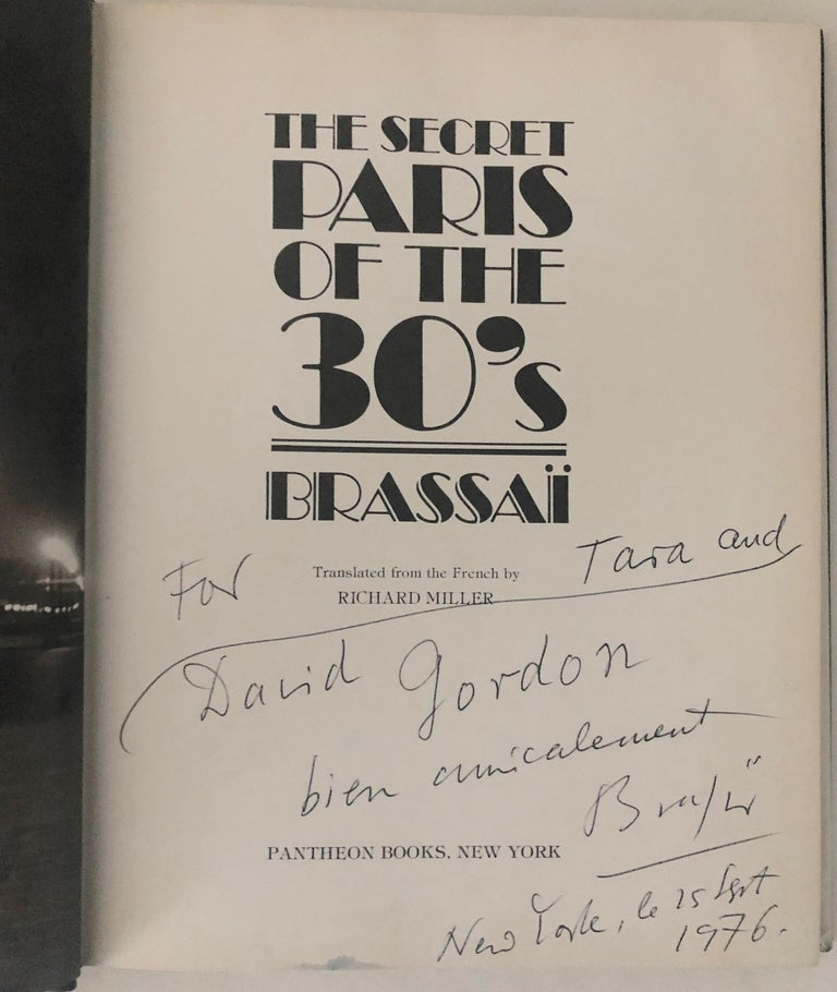 A beautifully signed copy of Brassai's