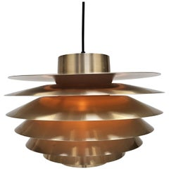 Brassed Svend Middelboe Verona Pendant Light Produced by Nordisk Solar, 1970s