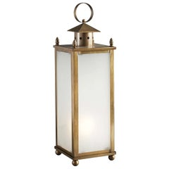 Brassy Outdoor Floor Light
