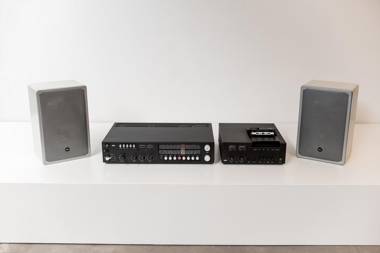 Complete Braun analogue audio system, designer by Dieter Rams, 1975.