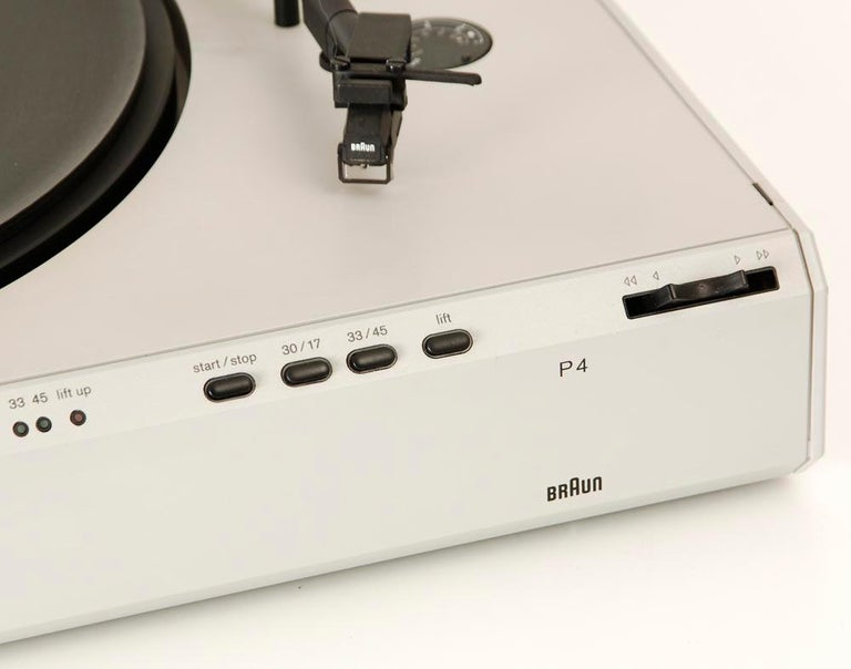 Braun P3 Record Player Designed by Dieter Rams, 1980s 3