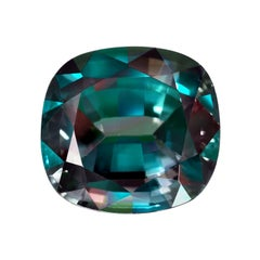 Brazil Alexandrite Cushion Cut 5.11 Carat AGL Certified Prominent Color Change