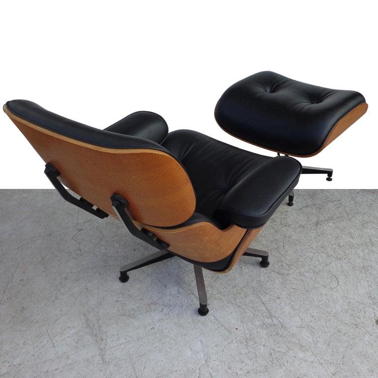 20th Century Black Brazilian Artesia Eames Lounge and Ottoman  For Sale
