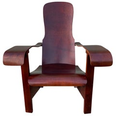 Brazilian Bentwood Lounge Chair by Moveis Cimo Mid-Century Modern
