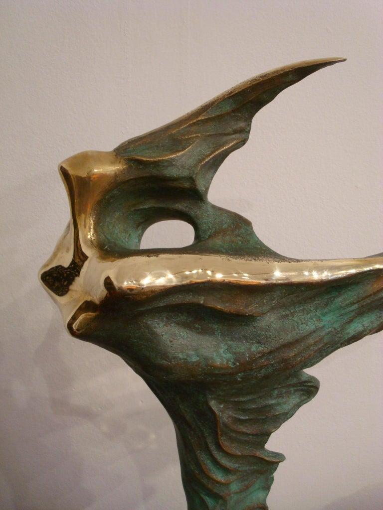 Mid-Century Modern Brazilian / Italian  Bronze Dancing Woman Sculpture by Domenico Calabrone, 1970s For Sale