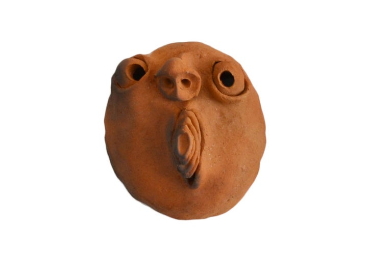 Folk Art Brazilian Ceramic Sculptures Zezinhos For Sale