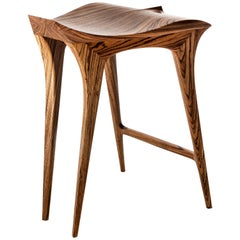 Contemporary Stool, Handcrafted, Solid Wood