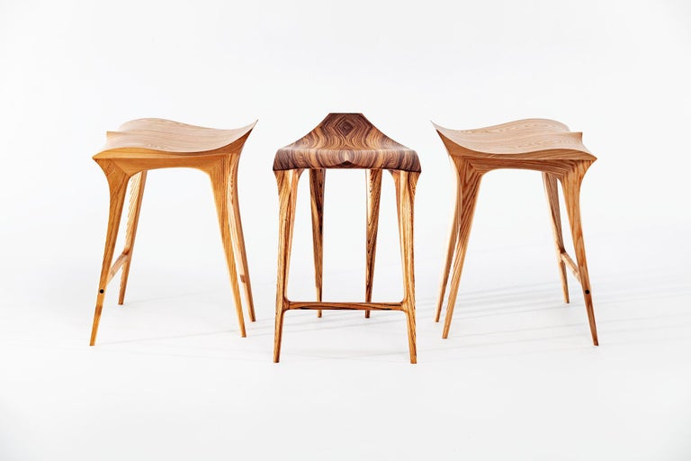 Brazilian Contemporary Stool, Solid Wood In New Condition For Sale In Atibaia, Sao Paulo