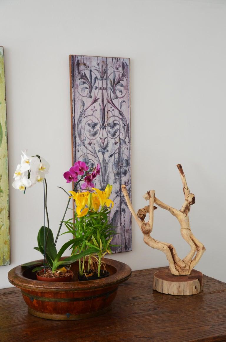 Brazilian Hand-Carved Wood Sculpture Frevo Dancers For Sale 1