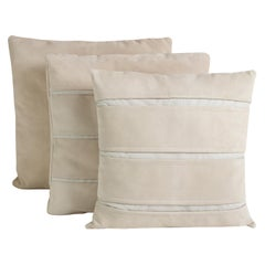Brazilian Handcrafted Leather Throw Pillows