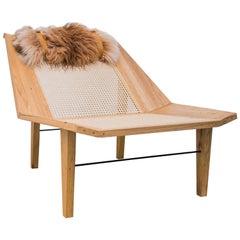 Brazilian Hardwood Freijó Armchair, Totora