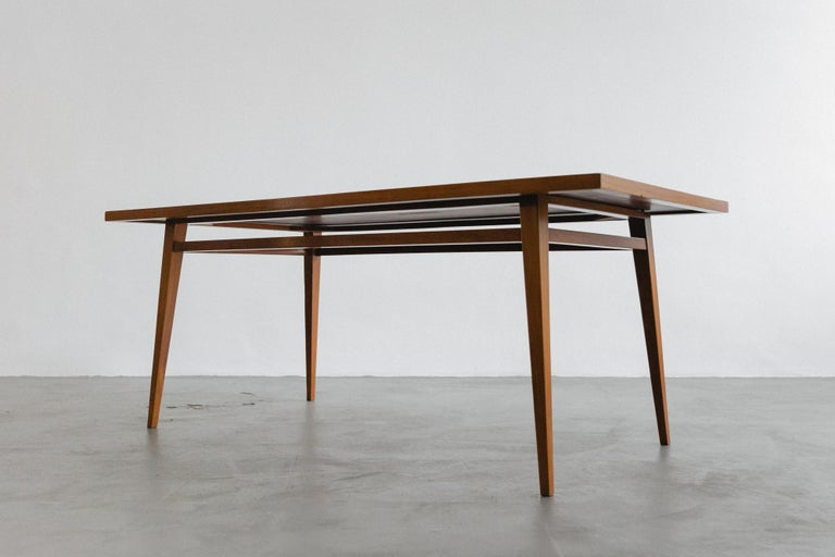 Mid-Century Modern Brazilian Hardwood Table by Joaquim Tenreiro, 1947, Midcentury Design For Sale