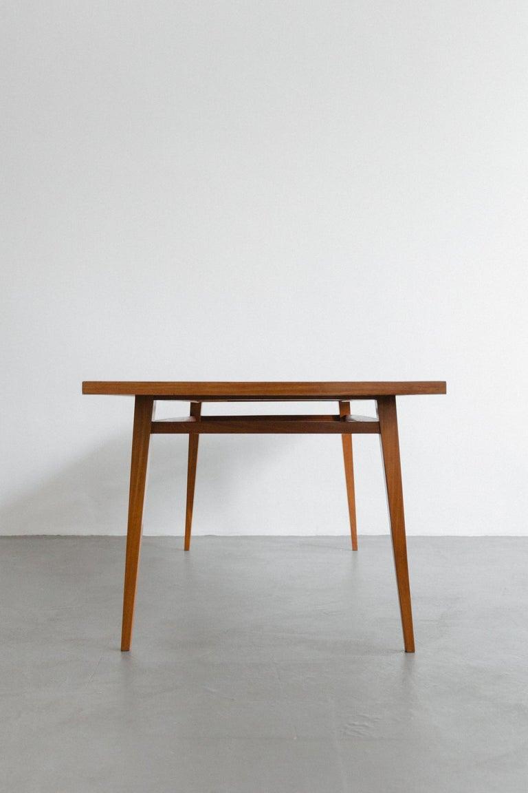 Mid-20th Century Brazilian Hardwood Table by Joaquim Tenreiro, 1947, Midcentury Design For Sale