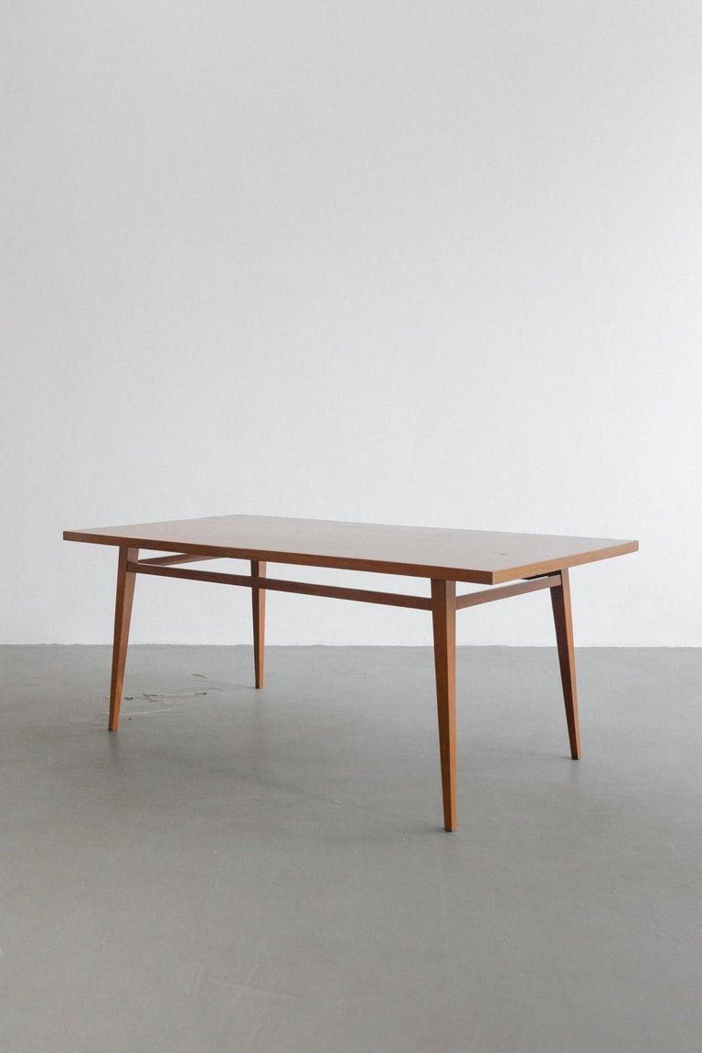 Rosewood Brazilian Hardwood Table by Joaquim Tenreiro, 1947, Midcentury Design For Sale