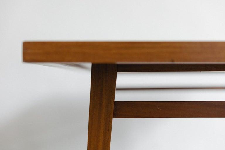 Brazilian Hardwood Table by Joaquim Tenreiro, 1947, Midcentury Design For Sale 1