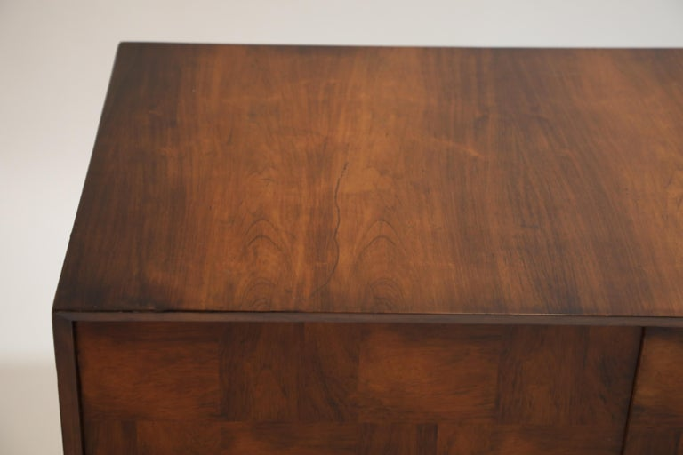 Brazilian Jacaranda Rosewood Parquetry Sideboard by Giuseppe Scapinelli, 1960s For Sale 9
