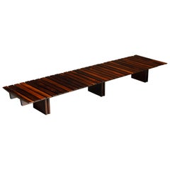 Brazilian Jacaranda Rosewood Slatted Bench or Low Table, Brazil 1960s