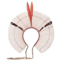 Brazilian Kayapo White Feather Headdress